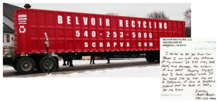 Trailer Built for Belvoir Recycling